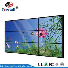 47'' LG 3x3 outdoor exhibition LCD video wall with ultra narrow bezel