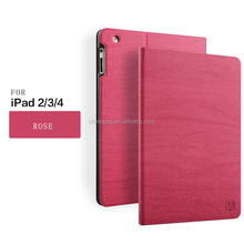 dust protective tree texture New business stand case pu leather case for ipad 2 3 4