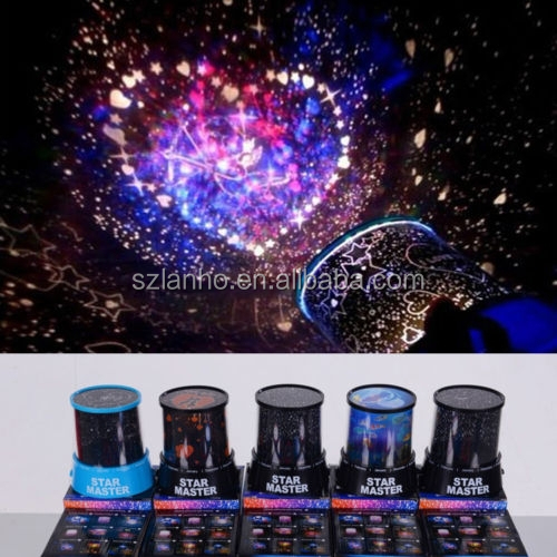 LED Starry Night Cupid Projector Lamp Romantic Star Bright Sky Light Lamp
