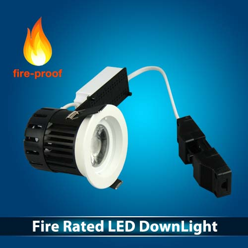 Fire Rated Downlight 10W 1250lm IP65 5years warranty