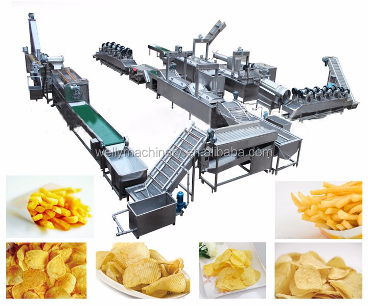 french fries machine/ potato chips line/ potato chips making machine