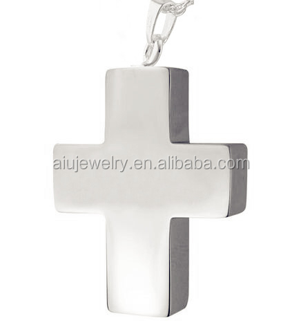 Cheap new coming centered cross cremation ashes pendant