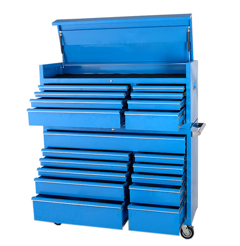 "2017 newest 56"" 7 drawer steel TOP CHEST & 11 drawer iron ROLLER CABINET for garage tool storage system"
