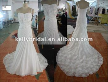 2013Wedding Dress Special One-shoulder Design for Bride Dress Pattern