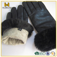 Cashmere Lined Sheepskin Gloves Women Leather