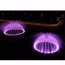 City Landscape Water Fountain Solutions With Beautiful Lights