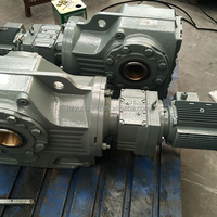 yuhuang K series l helical gearbox for machine conveyor belt bevel gearbox