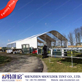 Amusement red high peak roof tent beautifully decorated