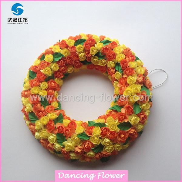 Wholesale flower wreath decorations christmas gfoh