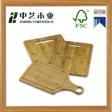2015 year china factory supplier sale FSC&SA8000 pizza kitchen chopping wooden cutting board rack