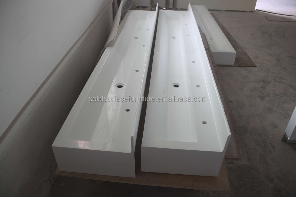 TW Custom corian solid surface rectangular bathroom sink