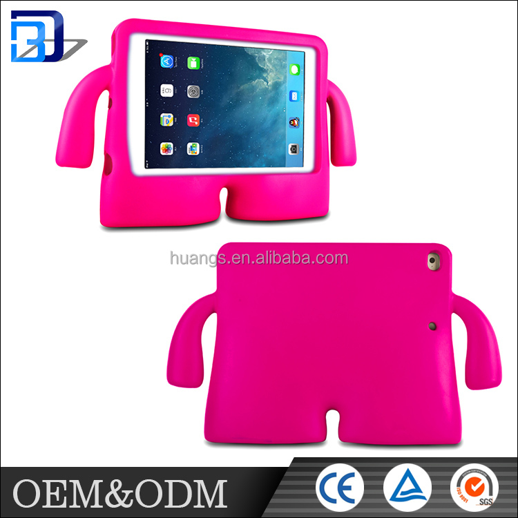 Made in China hot sale creative case fashion design colorful shockproof kids tablet case with handle for iPad air