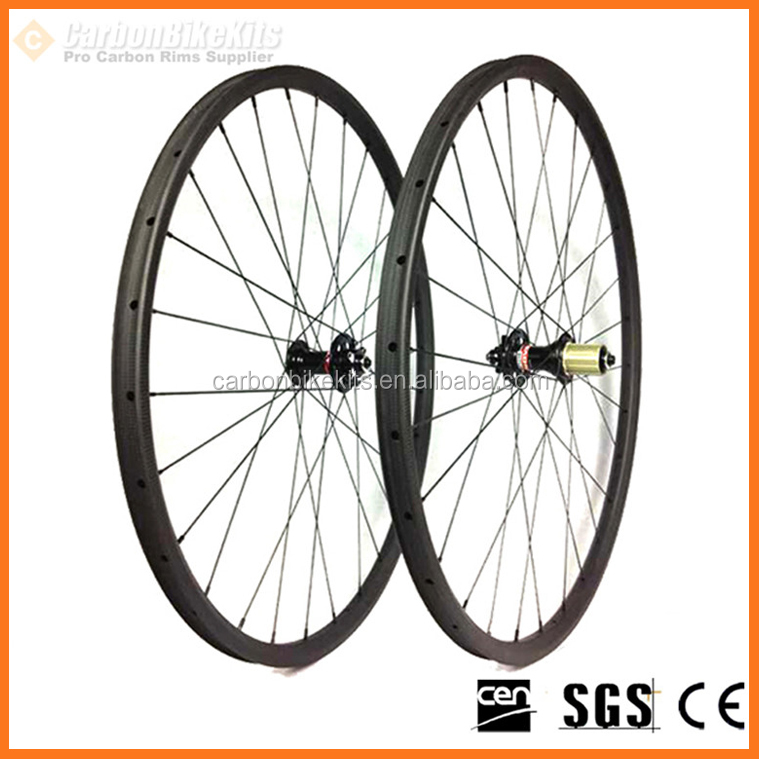 Full carbon CarbonBikeKits WDH29-35 downhill 29er 35mm wide carbon wheelset 29""