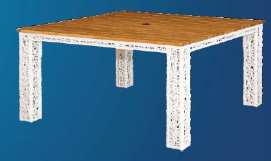 "Square Table ""Spider"" Weave"