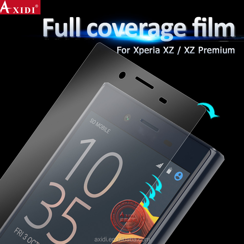 Cheap Price Full Cover 3D clear curved screen protective film for Sony XZ / XZ Premium