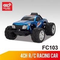 FeiLun FC103 new design 4CH 1:10 digital 4wd cross country plastic rc truck toy with lights