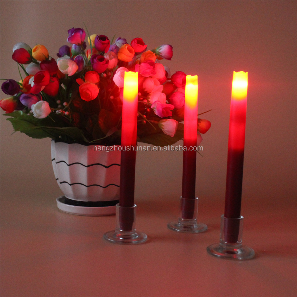 Wholesale romantic flameless LED taper candles