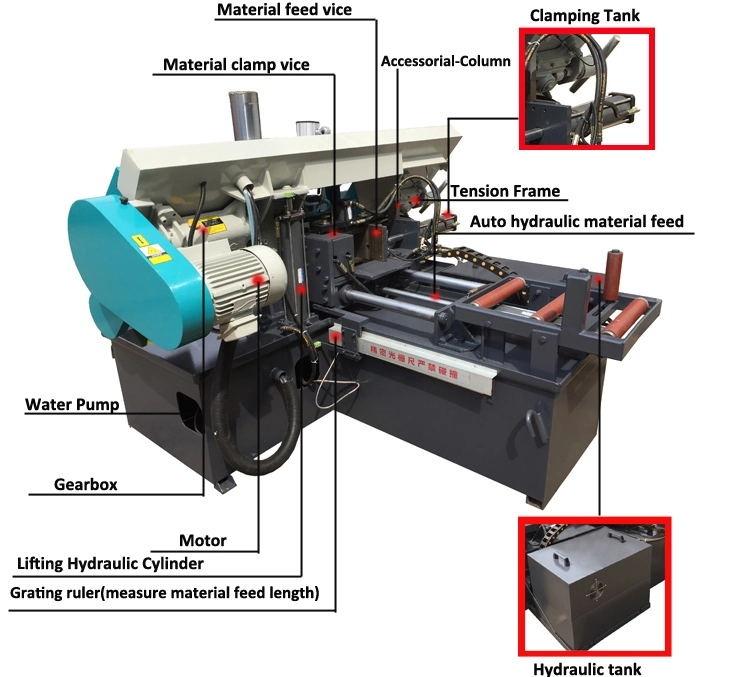 Factory Sale Good Quality Hydraulic Bandsaw Metal Cutting