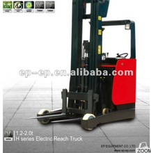 China capacity 2 ton 11m mast Full Electric forklift electric reach truck forklift model pallet high lift