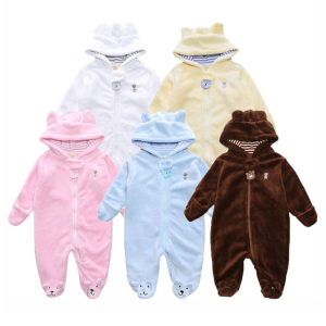 Newborn Baby Romper Winter Costume Baby Boys Clothes Coral Fleece Warm Baby Girls Clothing Animal Overall Rompers Jumpsuit