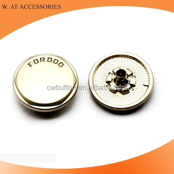 Hot selling engraved metal button snaps