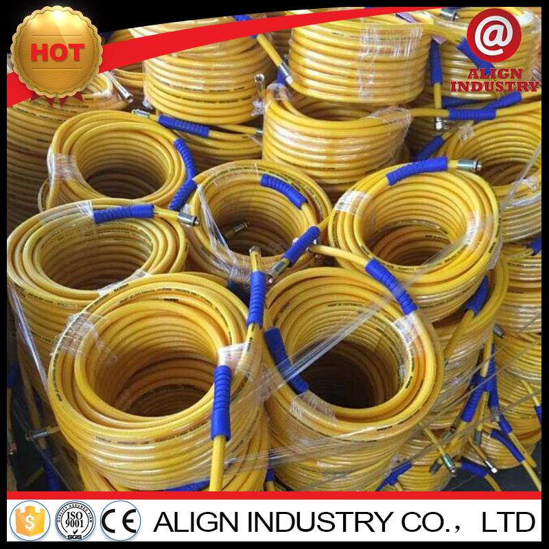 natural gas plastic pipe reinforced braided pvc pipe/tubing