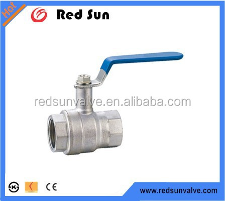 "Redsun high quality HR2120 1"" Female thread brass ball valve with long handle nickel plated Hpb57-3 of Yuhuan manufacture"
