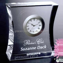 Crystal table clock souvenir clock table gift