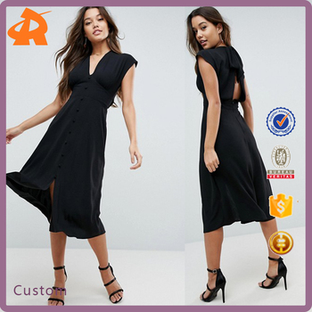 OEM high quality black new ladies dress,hot selling hot sexy dress manufacturer in china