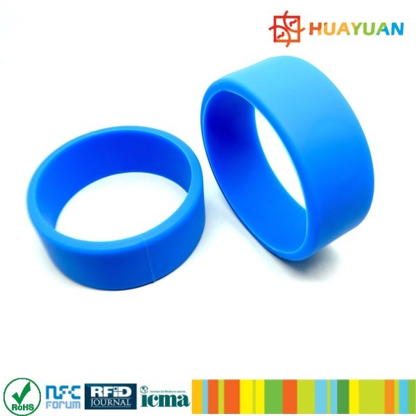 ISO14443 Hotel MIFARE Classic 4K RFID rubber silicon chip wristband