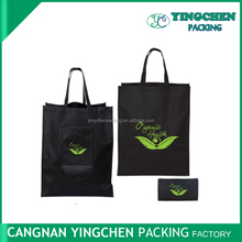 China factory direct 1C imprint logo non woven folding tote bag for Shopping
