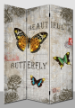 butterfly daily decorative printed canvas room dividers folding partitions