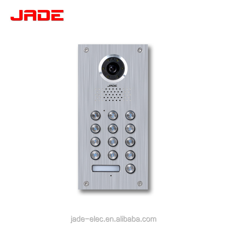 Stainless steel panel outdoor station Classical Design 4 wire 7inch CRT video door phone