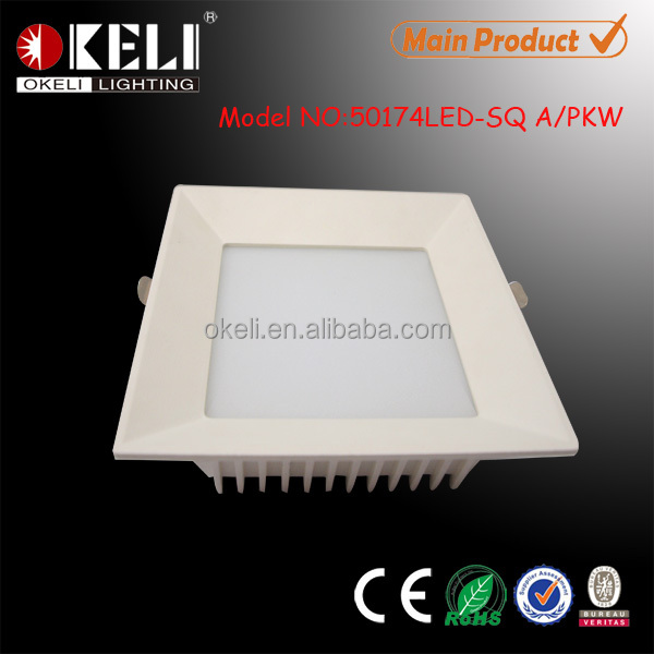Hot sale harga lampu ultra thin 16w smd square led downlight housing