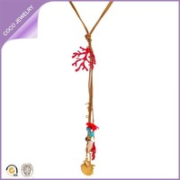 Wholesale Elegant Costume Starfish Shell And Sea Life Theme Jewelry Necklace
