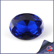 7x9mm Oval Cut Synthetic Blue Gemstone Spinel Color Card