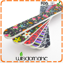 High quality nail file with glitter korean material salon professional nail file fancy nail file emery board