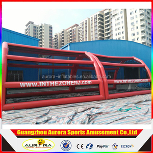 Hot sale inflatable baseball batting cage inflatable baseball pitch with nets