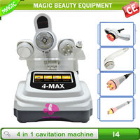 2014 professional 4-Max low price body vacuum machine and ultrasound fat removal home