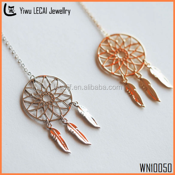 Dream Catcher Necklace/ Shoose Your Solor / Gold And Silver