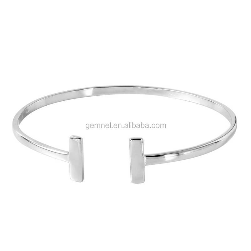 Gemnel Jewelry new trendy wholesale 925 solid silver bangle for women