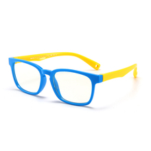 Silica Gel Soft Kid Eyeglasses Multicolored Children Optical Frame anti blue light goggle