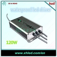 waterproof led driver CE ROHS be supported dimmable led driver DC 12V 120W led driver