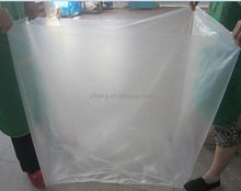 Large square bottom PE clear master carton liner bag for storage