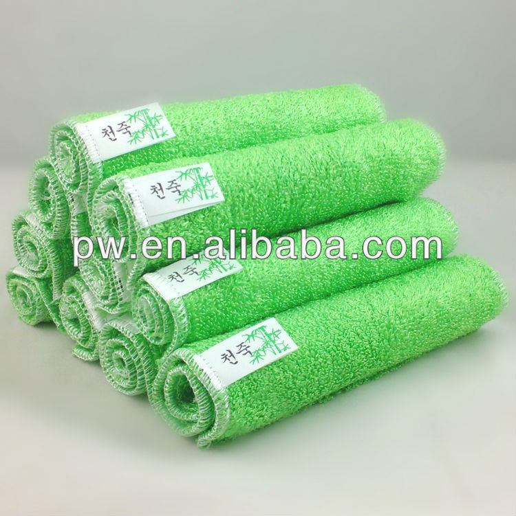 <strong>100</strong>% Bamboo Fiber Non-stick <strong>Oil</strong> Cleaning Cloth Kitchen Washing Dish Towel 27cm x 30cm 6 colors