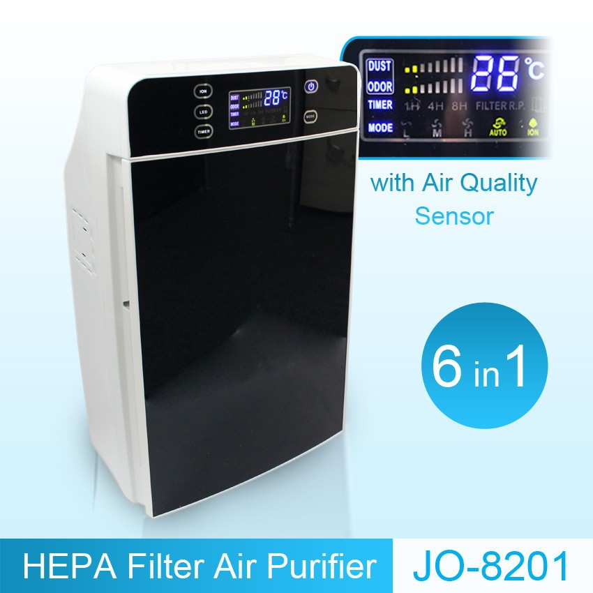 Innovative air cleaning product home air purifier (HEPA filter, activated carbon filter, air ionizer)