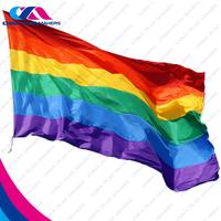 Custom rainbow nylon wind decorative garden flag