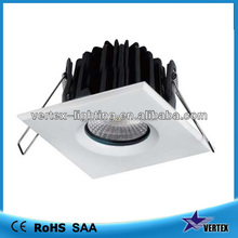 8w square recessed cob led downlight with ip65