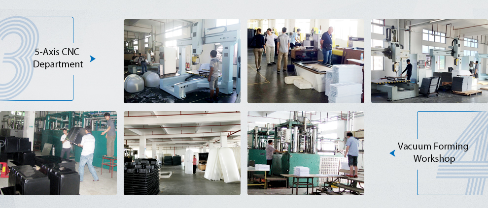 OEM Factory Custom Process Thermoforming PMMA Transparent Product