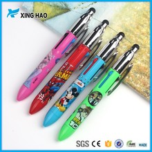 Wholesale new design cartoon plastic pens with different painting